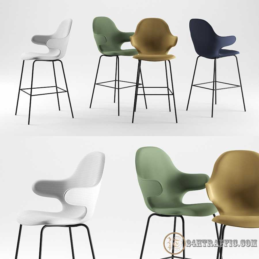 3dSkyHost: 3D modelCatch Bar Stool By &Tradition free download