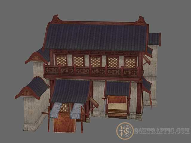 3dSkyHost:  3D Model Ancient Chinese Shop Free Download