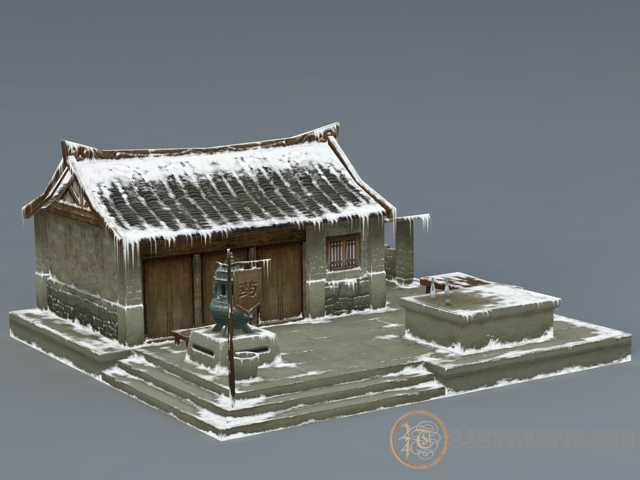 3dSkyHost: 3d model Ancient Snow House free download