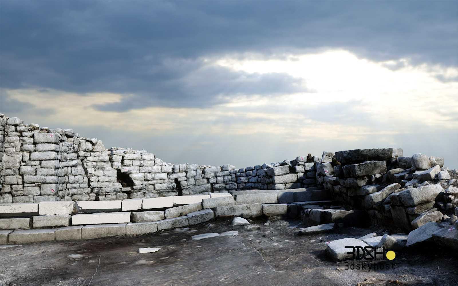 3dSkyHost: 3d model Roman Ruins free download